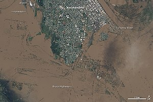 EO-1 ALI image of the flooding in Rockhampton ...