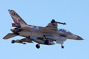 F-16D IAF עברית: מטוס קרב F16D טייסת העקרב 105
