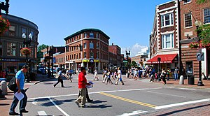 English: Harvard Square Cambridge Massachusett...