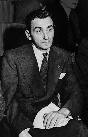 Irving Berlin, from a larger photo of him with...