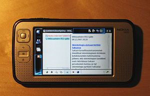 Nokia N800 internet tablet, with open source s...
