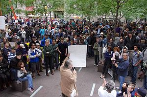 English: Protesters at the Occupy Wall Street ...
