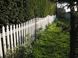 English: Picket fence