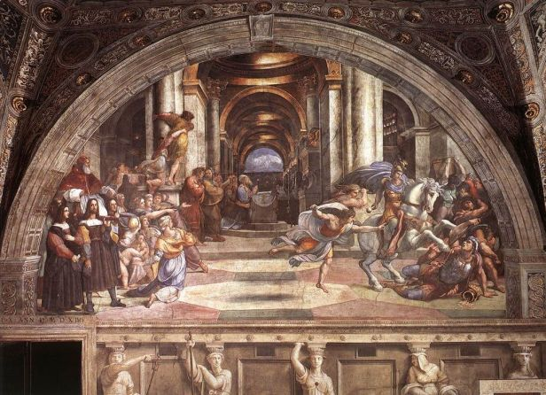 """""""The Expulsion of Heliodorus from the Temple"""" by Raphael"""