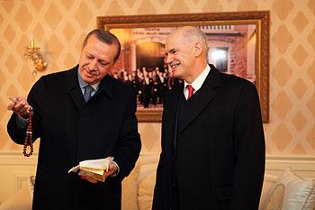 Turkish Prime Minister Recep Tayyip Erdoğan an...