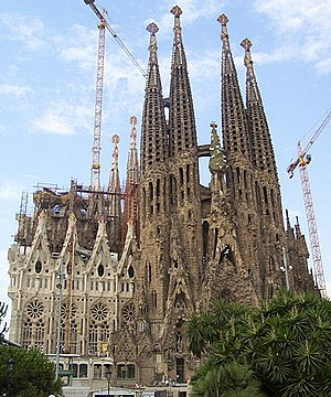 Overview of the Temple Expiatori de la Sagrada...