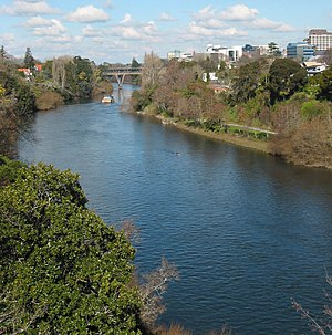 Waikato River passing through Hamilton