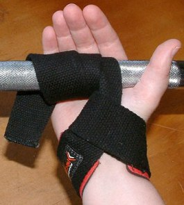 Wrist straps allow lifting heavier without hav...