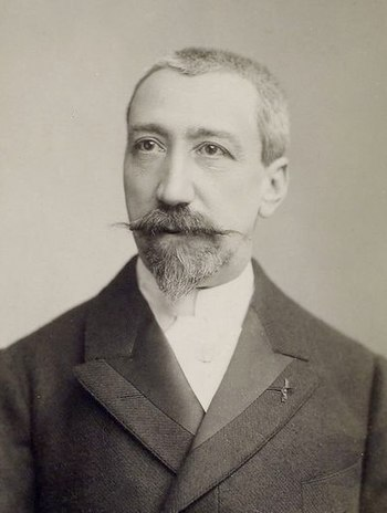English: Anatole France early in his career, p...