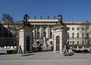 Deutsch: Berlin, Eingang zur Humboldt Universität