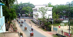 English: Court Road, Comilla.