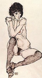 Sitzender weiblicher Akt, 1914