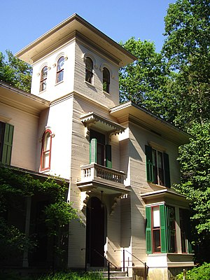 Austin Dickinson house, Amherst, Massachusetts...