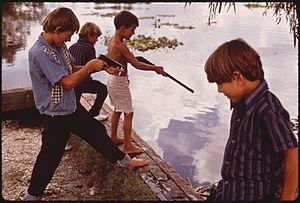 FISHERMEN'S SONS PRACTICE TARGET SHOOTING IN B...