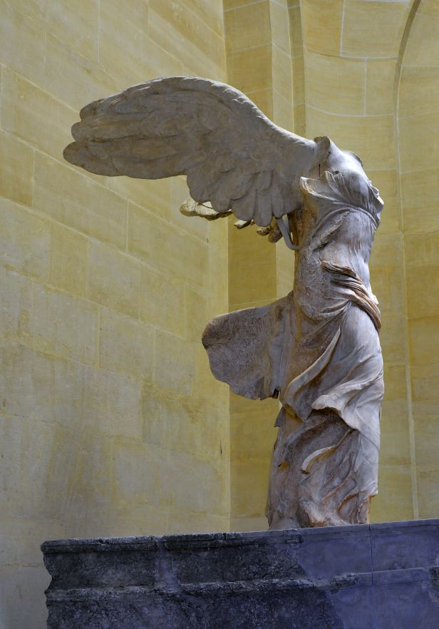 Front right view of the Nike of Samothrace