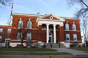 The Green Lake County Courthouse in Green Lake...