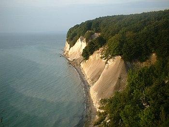 Rügen - chalk cliff at the peninsula Jasmund