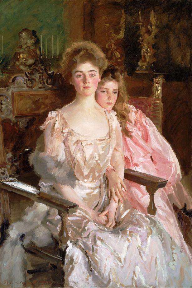 John Singer Sargent - Mrs. Fiske Warren (Gretchen Osgood) and Her Daughter Rachel - Google Art Project