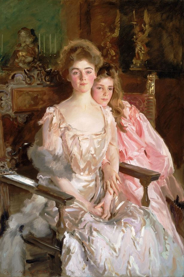 John Singer Sargent - Mrs. Fiske Warren (Gretchen Osgood) and Her Daughter Rachel - Google Art Project