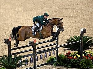 Olympic Equestrian Jumping in Hong Kong. Lanti...