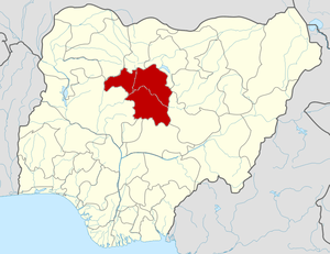 Map locator of Nigeria.