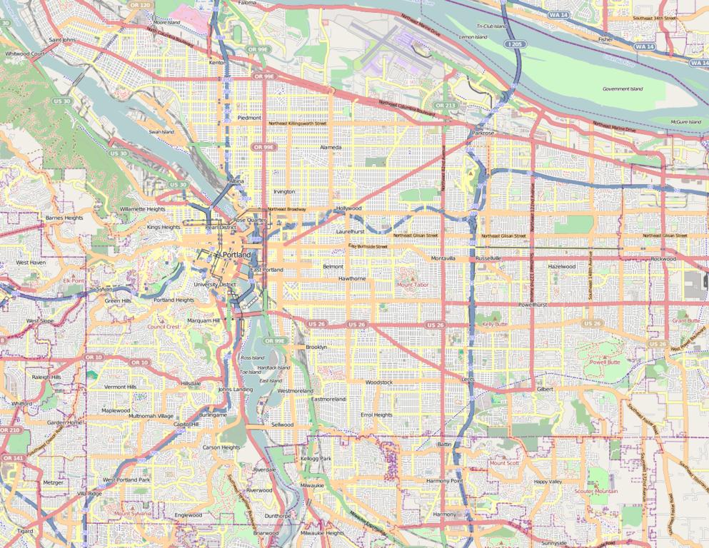 Portland Oregon Map Of Neighborhoods.Neighborhoods Portland Oregon Map