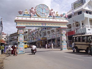 Entrance to Puttaparthi is the birth place and...