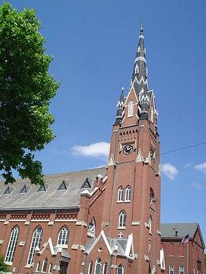 The exterior of Saint Mary's Church, Dubuque, ...