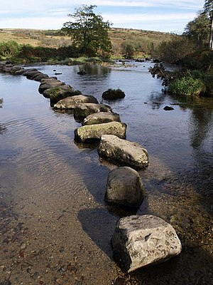 English: Stepping stones across the West Dart ...