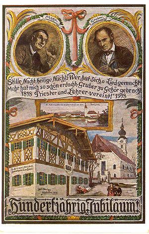 100th anniversary of Silent Night Christmas carol.
