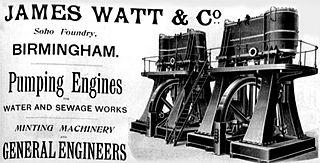 Advertisement for James Watt & Co. pumping engines