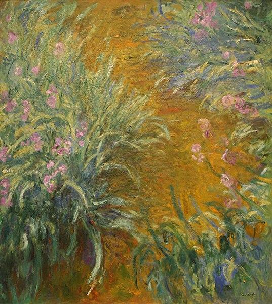 File:WLA metmuseum The Path through the Irises by Claude Monet.jpg