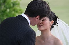 The wedding vows are complete - you may now ki...