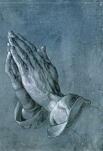 """Praying Hands"" (study for an Apostl..."
