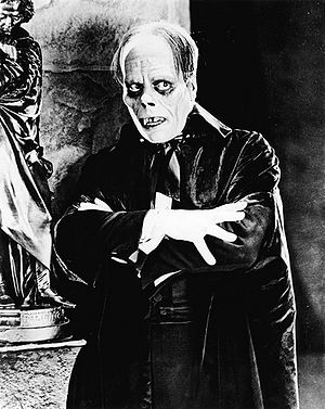 Scan of still of Lon Chaney in The Phantom of ...