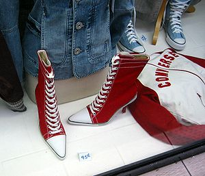 English: Converse high fashion, Paris, Decembe...
