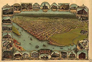 Illustrated map/perspective of Eureka, Califor...
