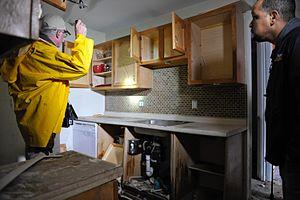 Cranston, RI, April 17, 2010 -- FEMA inspector...
