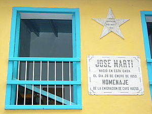 English: Facade of house of Jose Marti, Habana...