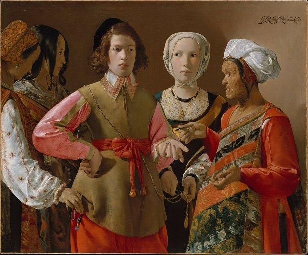 """""""The Fortune Teller"""" by Georges de La Tour"""