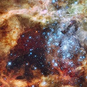 Grand star-forming region R136 in NGC 2070 (vi...