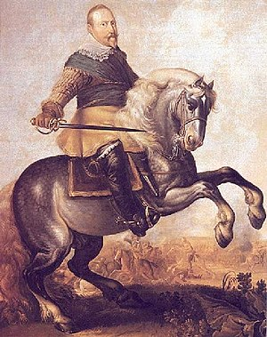 Gustavus Adolphus at the Battle of Breitenfiel...