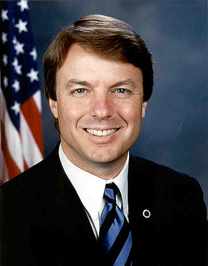 John Edwards official Senate photo portrait.