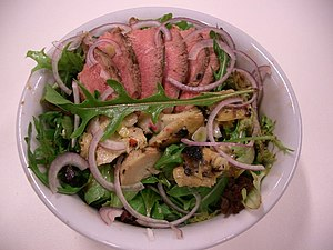 Lamb and Artichoke Salad made from BBQ leftove...