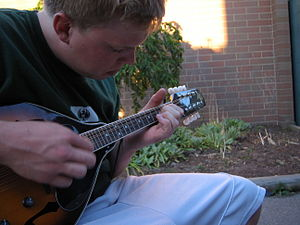 Mandolin playing