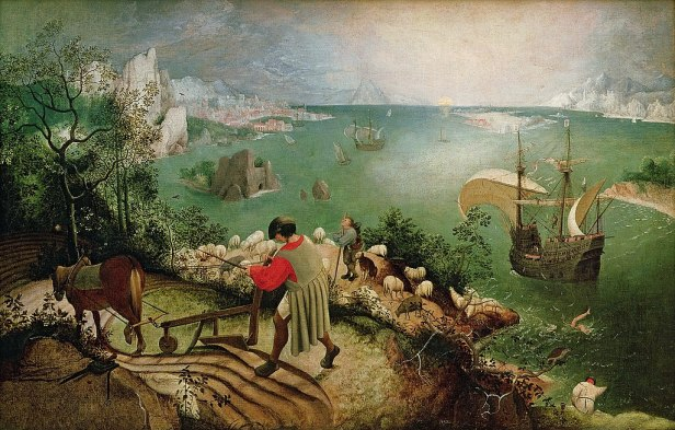 """""""Landscape with the Fall of Icarus"""" byPieter Brueghel the Elder"""