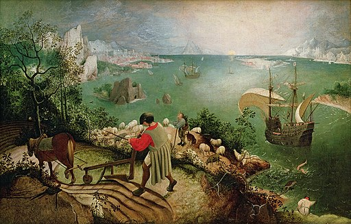 """Landscape with the Fall of Icarus"" by Pieter Brueghel the Elder"