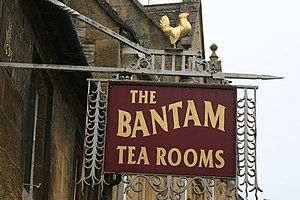 The Bantam Tea Rooms Sign outside the tea rooms
