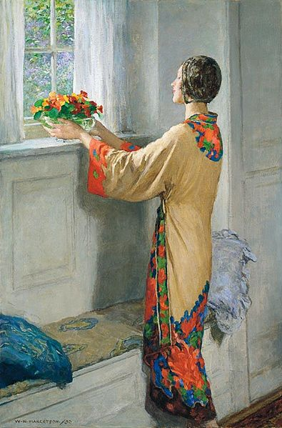 Archivo: William henry Margetson un nuevo day.jpg
