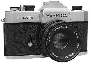 The Yashica TL-Electro, built between 1972 and...